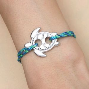 🐢 Men's Sea Turtle Ocean Color cord bracelet